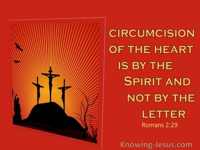 Romans 2:29 He Is A Jew Who Is One Inwardly With The Circumcision Of The Heart (red)